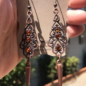 Hand Crafted Swarovski Crystal Drop Earrings